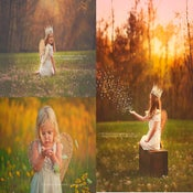Image of Linen Wings - Shabby Chic with Vintage Flare - Toddlers Girls - Photography Prop
