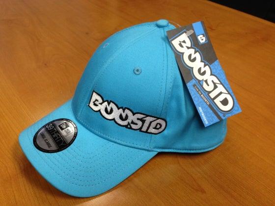 Image of BOOSTD logo - New ERA stretch fit BOOSTD blue hat