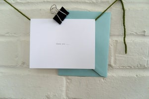 Image of thank you ... {letterpress thank you card}