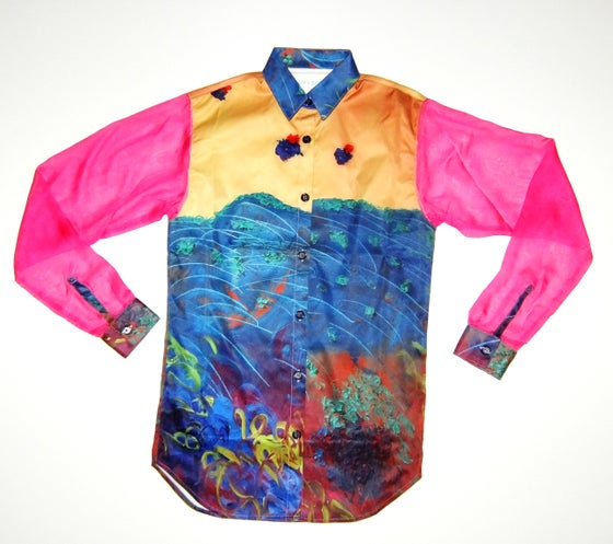 Image of Garden Loose Shirt with Chiffron Sleeves