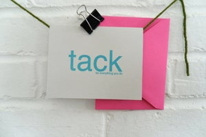 Image of tack {thank you cards}