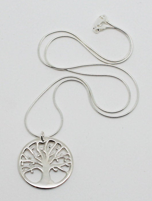 Image of Tree of Life Sterling Silver Necklace