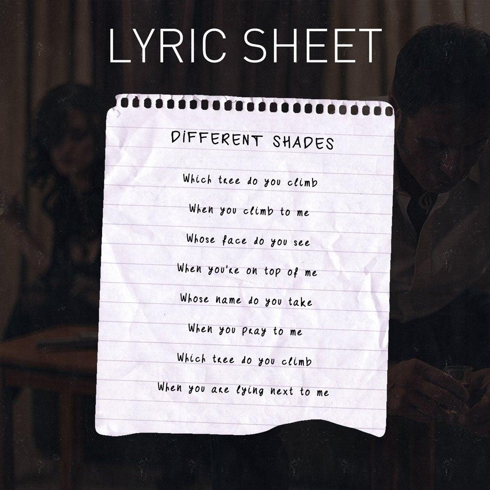 Image of Handwritten Lyric Sheet