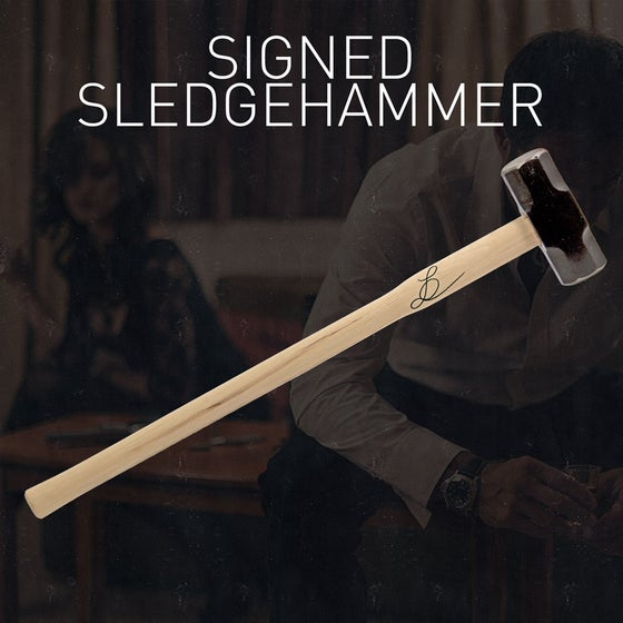 Image of Signed Sledgehammer from Gift of Desperation music video