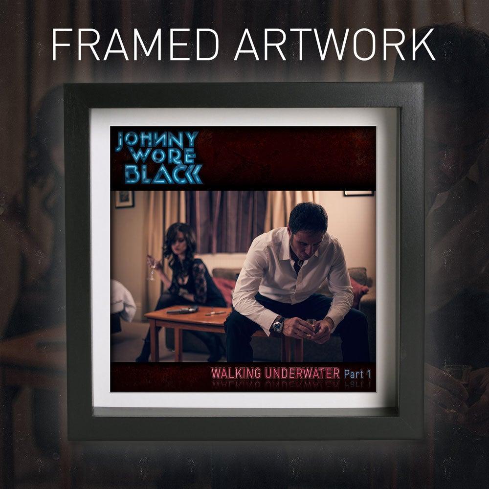 Image of Framed signed Walking Underwater artwork