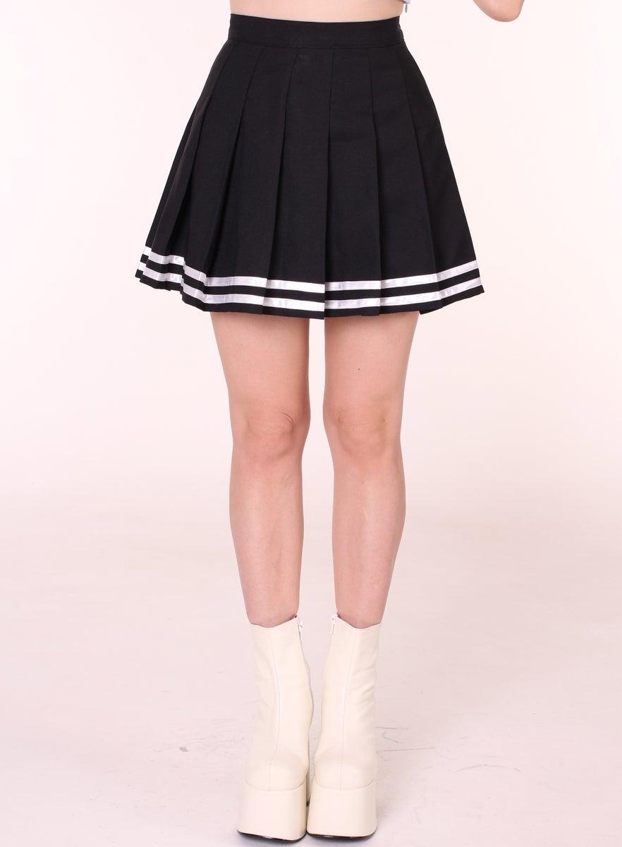 Glitters For Dinner u2014 Ready To Post - Black Cheerleading Skirt
