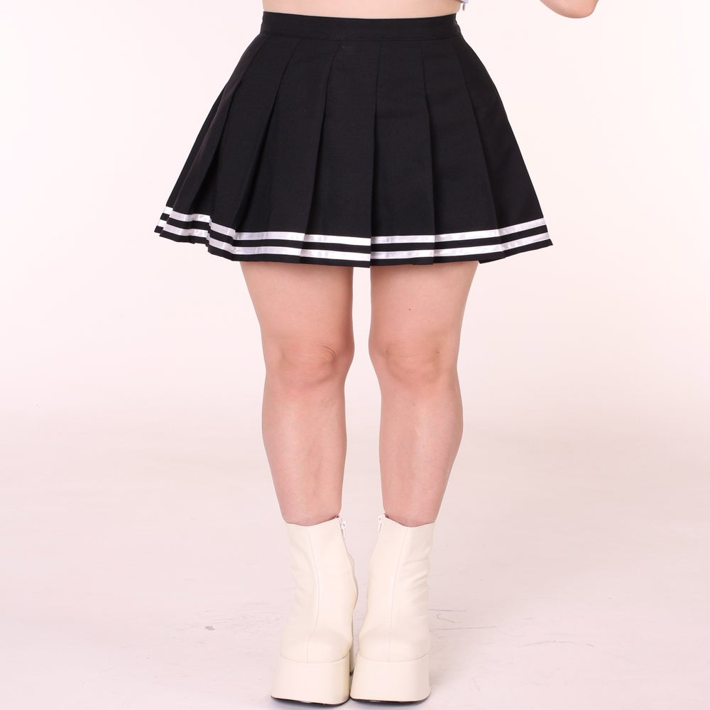 Glitters For Dinner u2014 MADE TO ORDER - Black Cheerleading Skirt