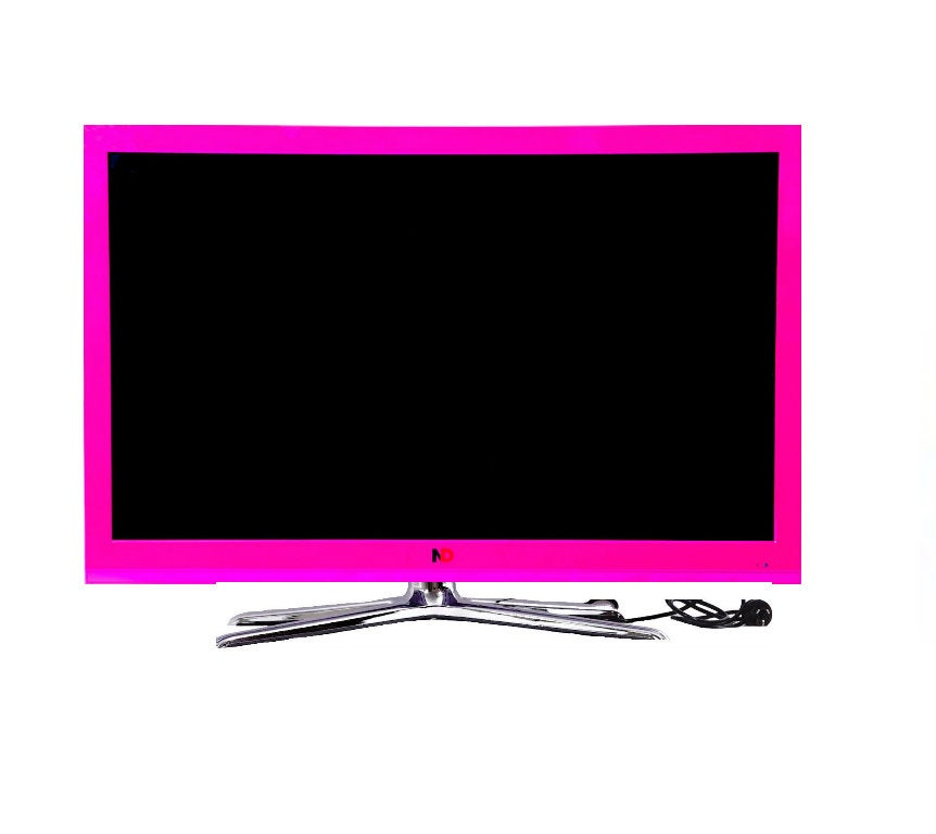 icolourtv hot pink 42 inch led tv. Black Bedroom Furniture Sets. Home Design Ideas