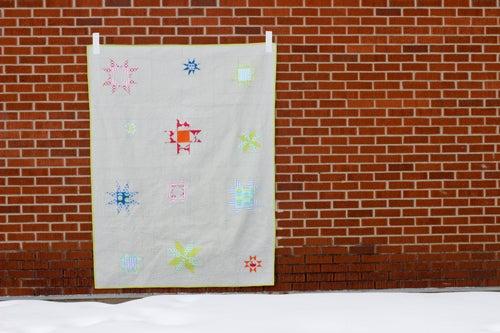 Image of Shining Stars Sampler Quilt PAPER Pattern