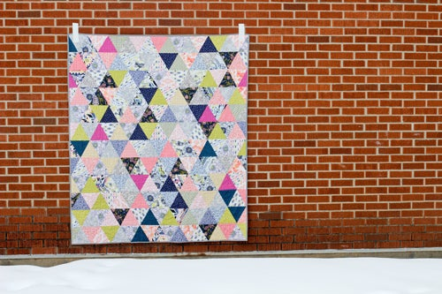 Image of Triangularity Quilt PAPER Pattern