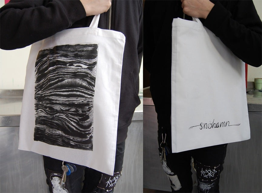 Image of Snöhamn white totebag