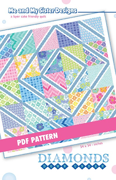 Me And My Sister Designs Diamonds Down Under Pdf Pattern