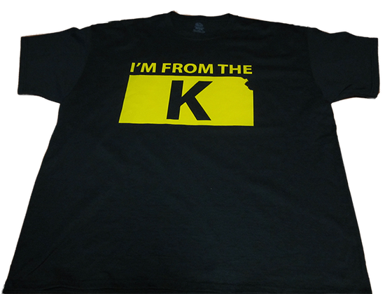 "Image of ""I'm from the K"" Standard Crew Neck Tee [BLK/YLW]"