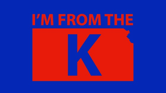 "Image of ""I'm from the K"" Standard Crew Neck Tee [BLU/RED]"