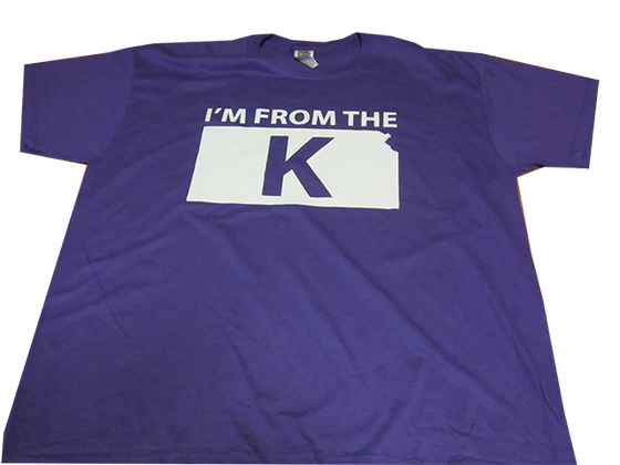 "Image of ""I'm from the K"" Standard Crew Neck Tee [PUR/WHT]"