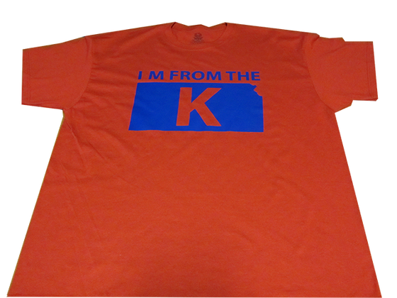 "Image of ""I'm from the K"" Standard Crew Neck Tee [RED/BLU]"