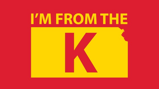 "Image of ""I'm from the K"" Standard Crew Neck Tee [MRN/YLW]"
