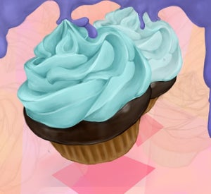 Image of Happy Cupcake Print