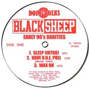 "Image of BLACK SHEEP (BLACK VINYL) ""EARLY 90's RARITIES"""
