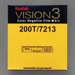 Image of Kodak Vision 3 200T Colour Negative Super 8 Film
