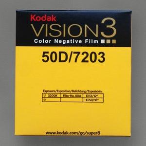 Image of Kodak Vision 3 50D Colour Negative Super 8 Film