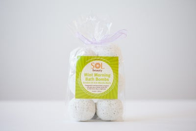 Mint Morning Bath Bombs - Sol  Beauty
