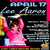 Image of LEE AARON - Thursday, April 17, 2014 @ The Brass Monkey