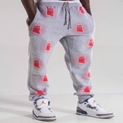 "Image of GREY ALL OVER ""JESUS PIECE JOGGERS"""