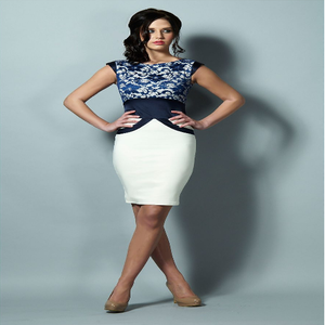 Image of Tempest Ollie Navy Lace and Cream Dress