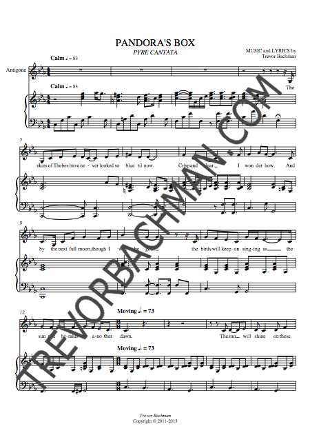 Image of 'Pandora's Box', PYRE CANTATA Sheet Music