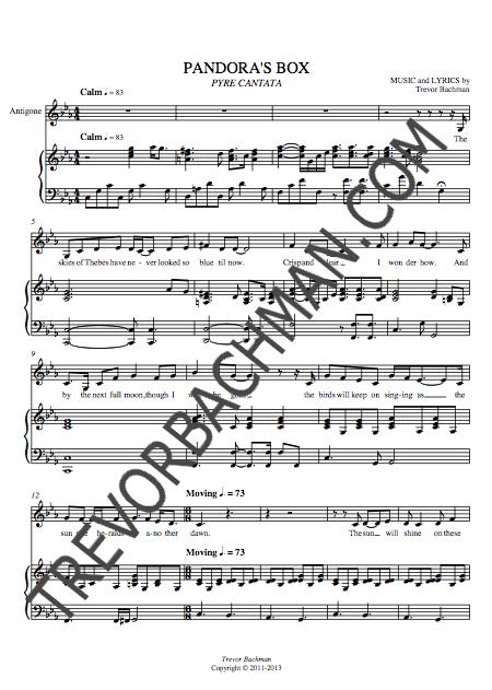 Image of 'Pandora's Box', PYRE CANTATA Sheet Music