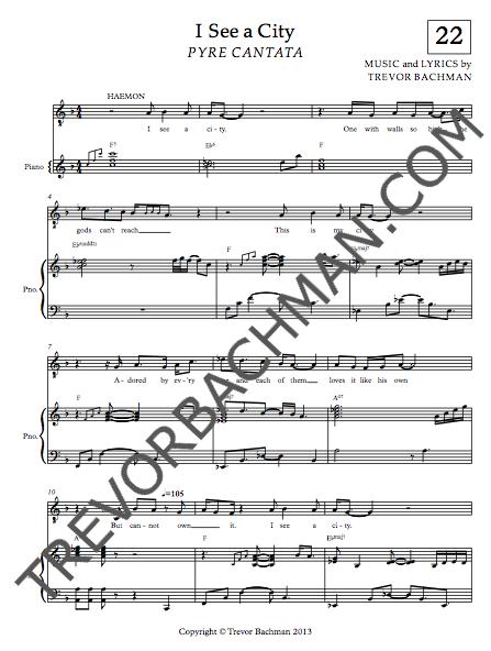 Image of 'I See a City', PYRE CANTATA Sheet Music