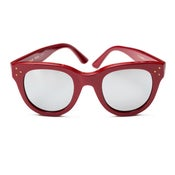 Image of She Loves You - Red + Silver Mirror Lens