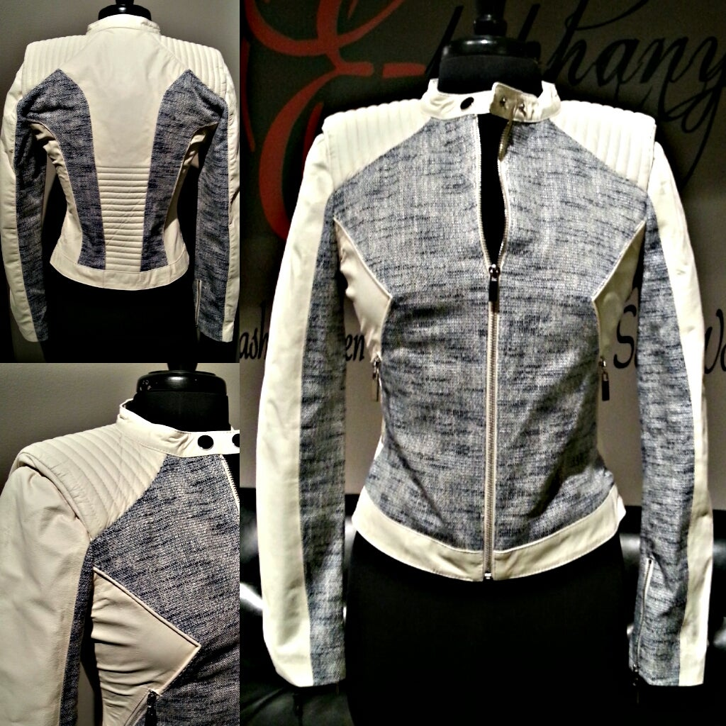 Image of The White Lamb Leather Jacket**ON SALE**