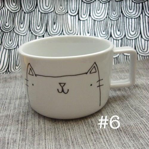Image of kitteh mugs #4 & #6 -- made to order