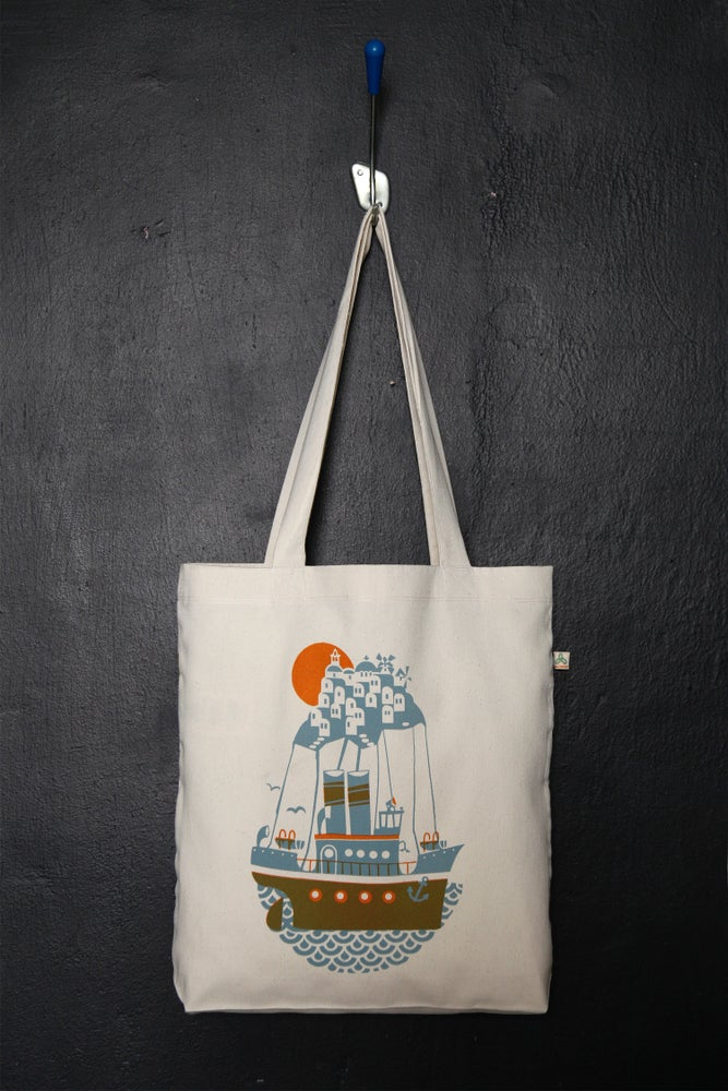 "Image of ""Santorini Arrival"" shopper tote bag"