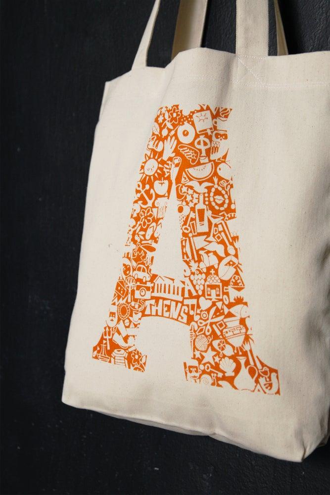 "Image of ""Athens Monogram"" shopper tote bag"