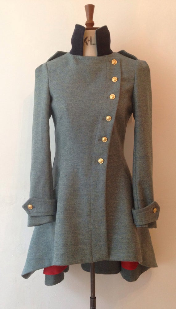 Image of Plain Tweed Commander Coat