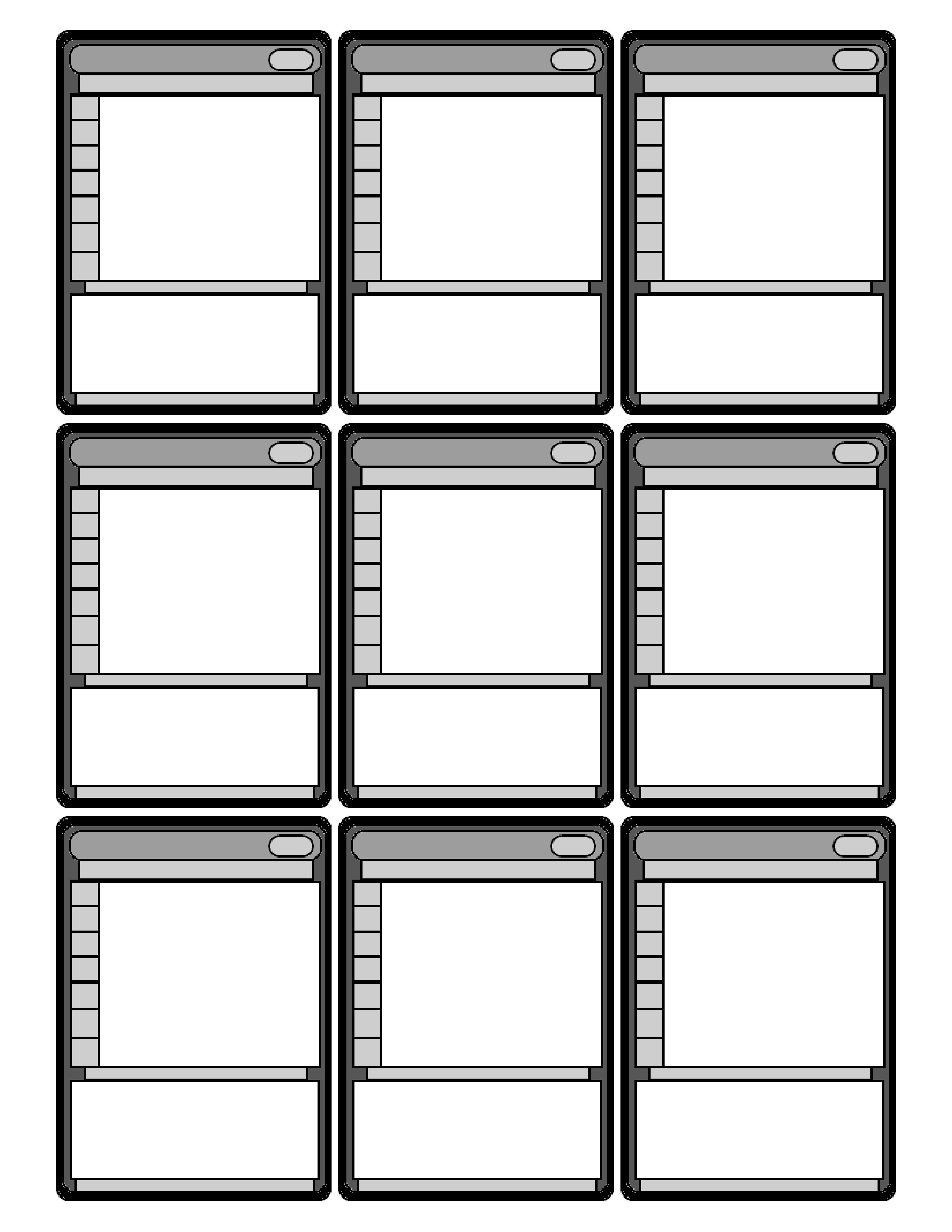 Blackdecx Printing Services Ccg Or Tcg Style Template