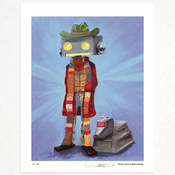 The Dr. and K-9 Print - Matt Q. Spangler Illustration