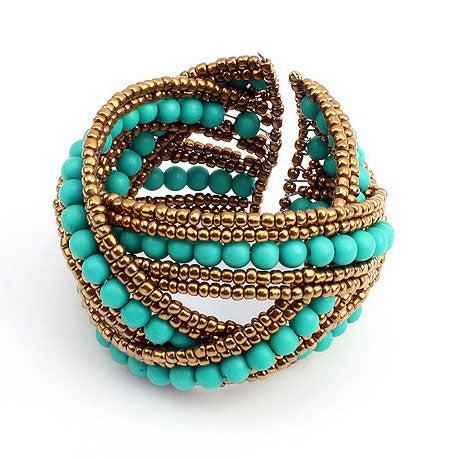 Image of Fashion Bohemia Bangles Spiral Bead Bracelet