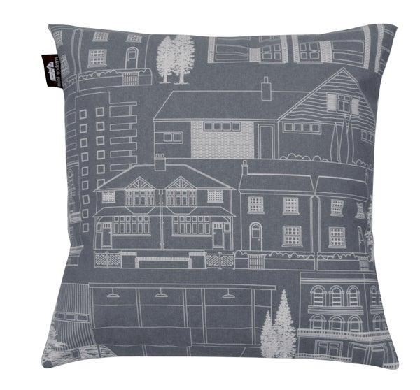 Image of Town Cushion - Dark Grey