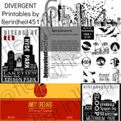 Image of Divergent Party Printables