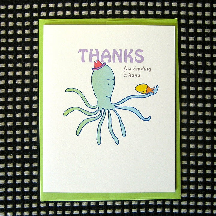 Image of OCTOPUS THANK YOU CARD