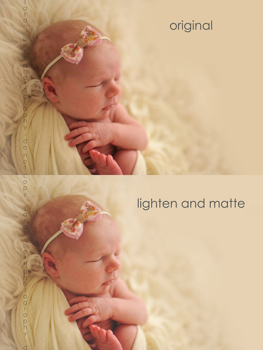 Image of SBP Lighten & Matte Finishing Action for Photoshop (cs2-6)