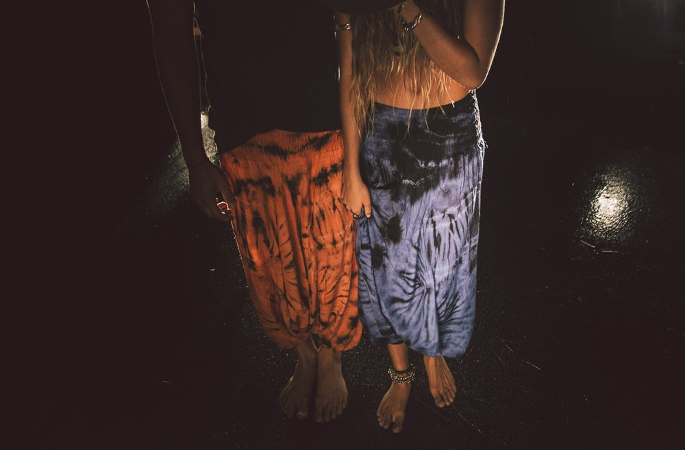 Image of Rancho Relaxo tie dye harem pants