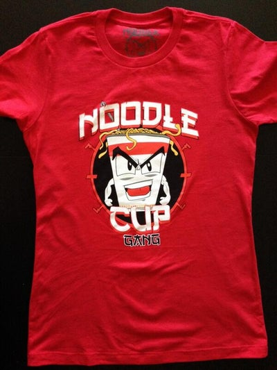 Image of Men and Women Noodle Cup Red Tee