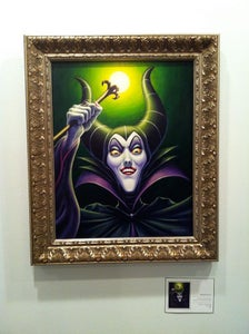 "Image of ""Maleficent"" - 16"" x 20"" original acrylic painting"