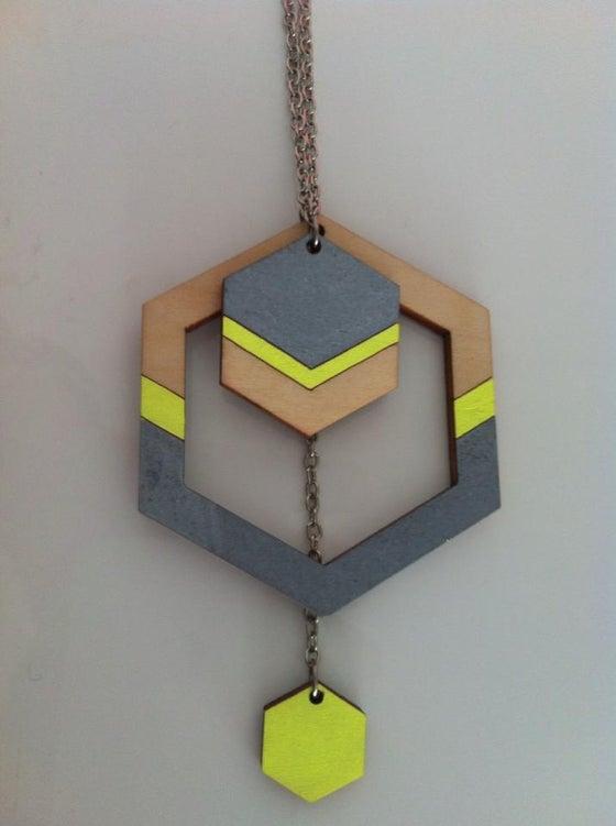 Image of XL Handmade Hexagon Necklace