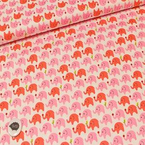 Image of Tela Elefantes rosas